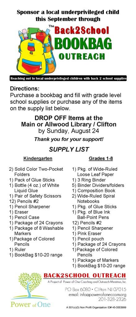 Back2 School supply list